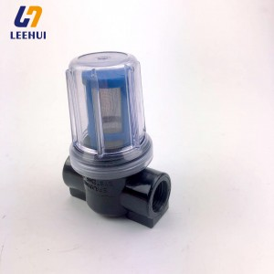 Road roller Water filter